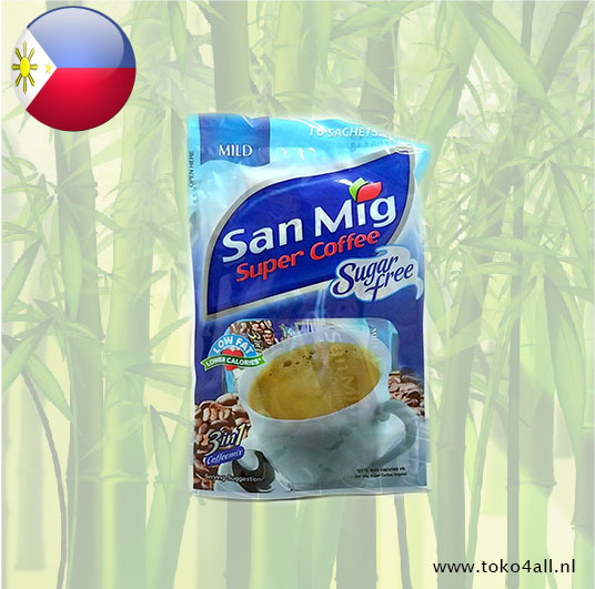 Toko 4 All - 3 in 1 Mild Coffee 10 x 7 gr San Mig Super Coffee