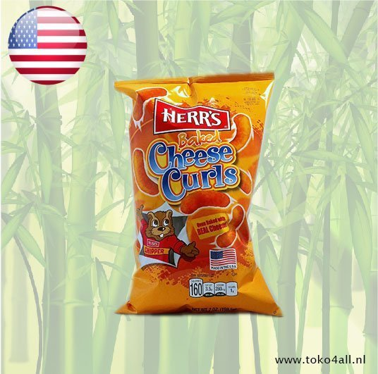Toko 4 All - Baked Cheese Curls 198 gr Herrs