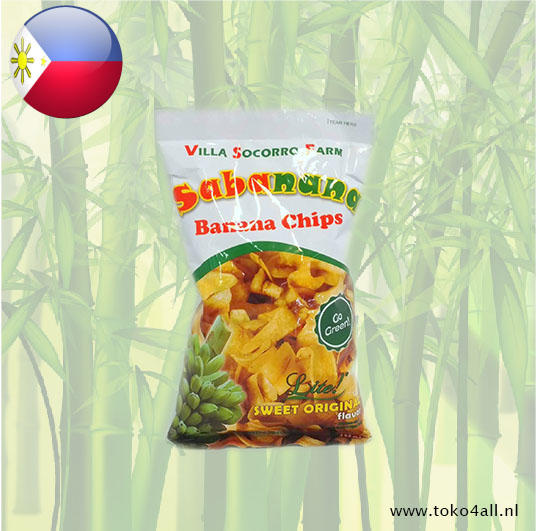 Toko 4 All - Banana chips Lite 100 gr Villa Socorro Farm