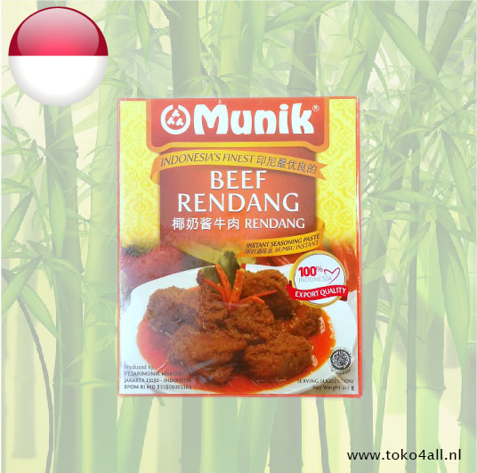 Toko 4 All - Beef Rendang Seasoning Paste 115 gr Munik