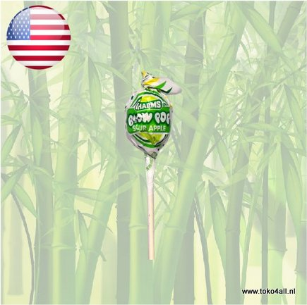 Toko 4 All - Blow Pop Sour Apple Lolly pop 18 gr Charms