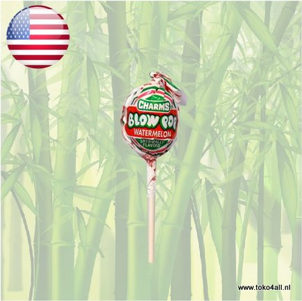 Toko 4 All - Blow Pop Watermelon Lollypop 18 gr Charms