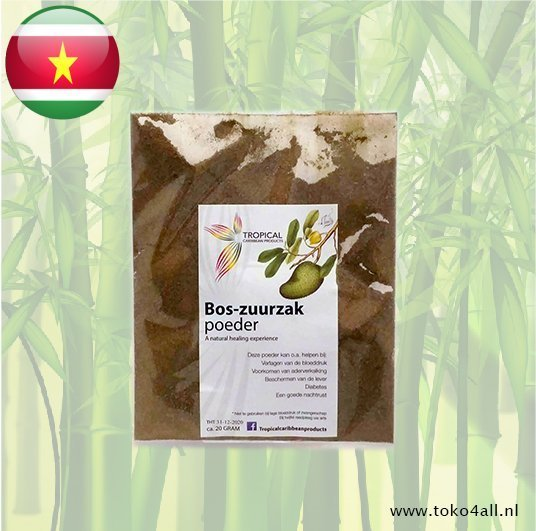 Toko 4 All - Bos Zuurzak Poeder 25 gr Tropical Caribbean Products