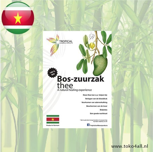 Toko 4 All - Bos Zuurzak thee 20 gr Tropical Caribbean Products
