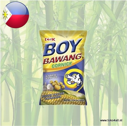 Toko 4 All - Boy Bawang Garlic Cornick 100 gr KSK