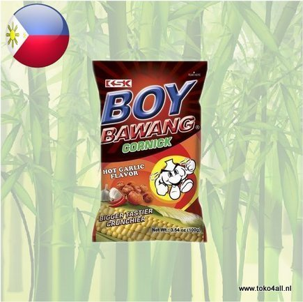 Toko 4 All - Boy Bawang Hot Garlic Cornick 100 gr KSK