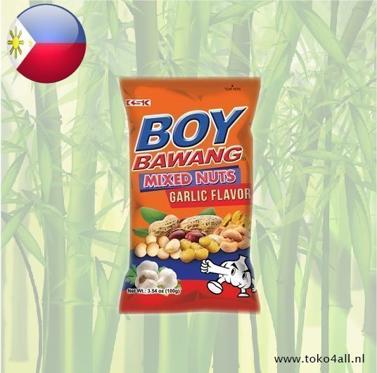 Toko 4 All - My Little Philippines - Boy Bawang Mixed Nuts Garlic flavor 100 gr KSK