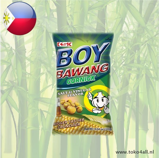Toko 4 All - Boy Bawang Salt and Vinegar Cornick 100 gr KSK