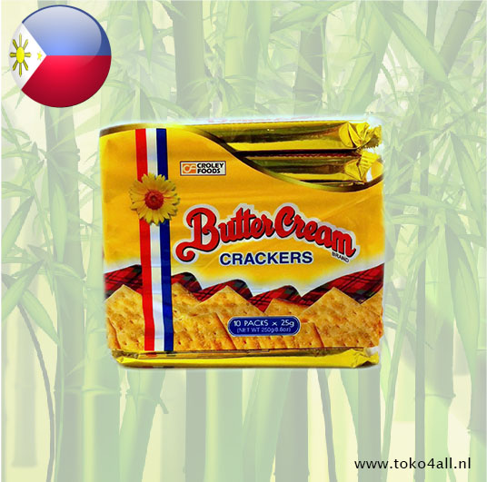 Toko 4 All - Butter cream Crackers Regular 250 gr Sunflower