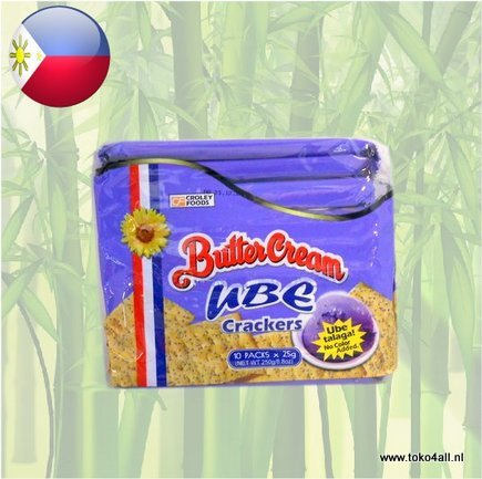 Toko 4 All - Butter cream Crackers Ube 250 gr Sunflower