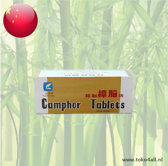Toko 4 All - Camphor Tablets refined 10 x 25 gr Polar Bear Brand