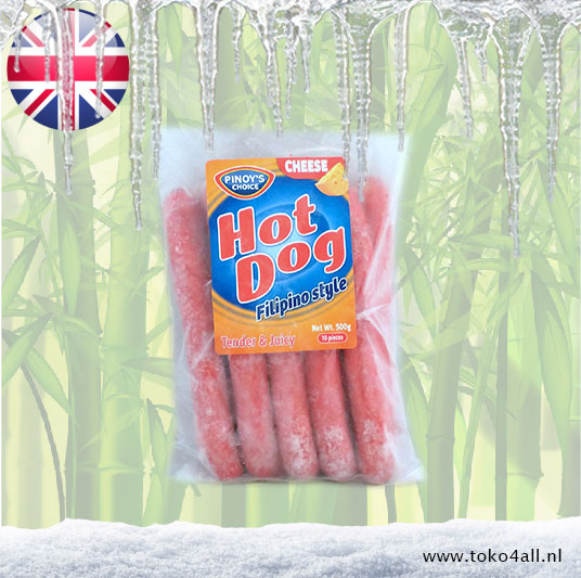 Toko 4 All - My Little Philippines - Cheese hot dog Filipino style 500 gr Pinoys Choice