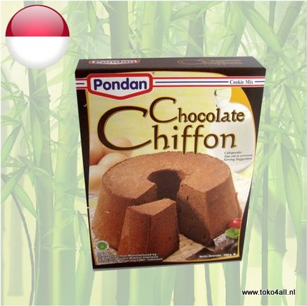 Toko 4 All - Chocolate Chiffon cake mix 400 gr Pondan