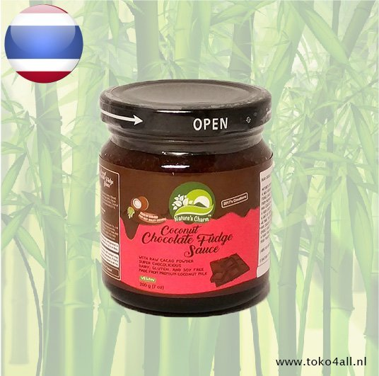 Toko 4 All - Coconut Chocolate Fudge Sauce 200 gr Natures Charm