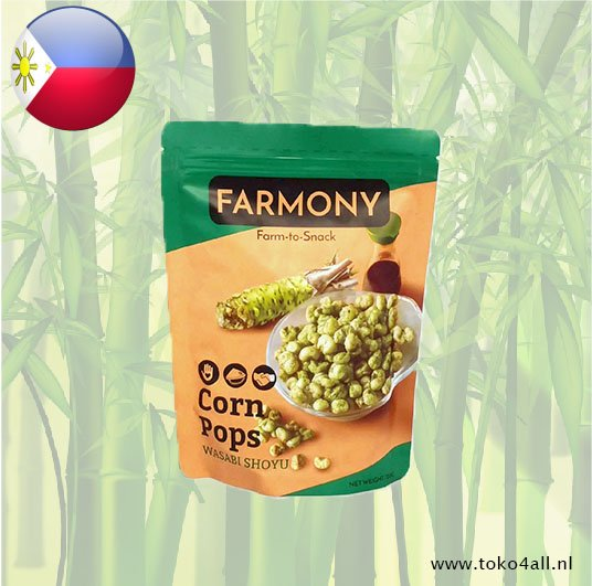 Toko 4 All - Corn Pops met Wasabi Shoyu 120 gr Farmony