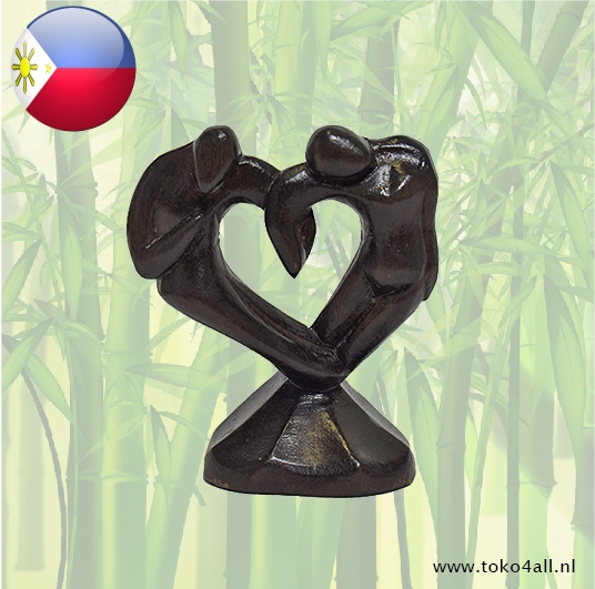 Toko 4 All - My Little Philippines - Couple heart 9 x 3 x 10 cm Kahoy