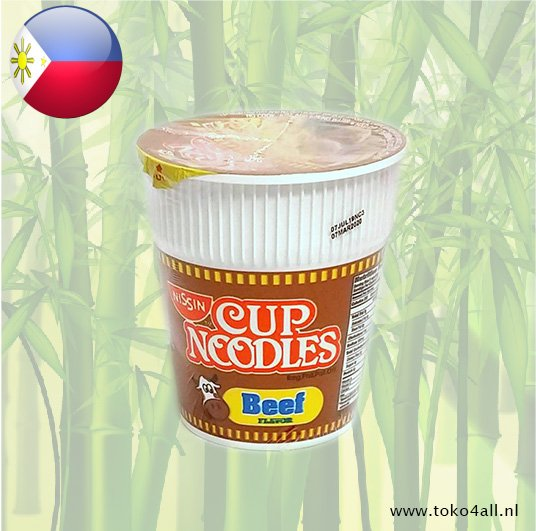Toko 4 All - My Little Philippines - Cup Noedels met rundvlees aroma 60 gr Nissin