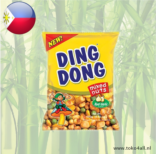Toko 4 All - My Little Philippines - Ding Dong Mixed Nuts Garlic Flavor 100 gr JBC