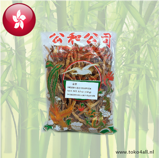Toko 4 All - Dried lily Flower 100 gr Kung Wo & Company