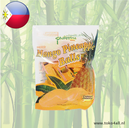 Toko 4 All - Dried Mango Pineapple Balls 100 gr Philippine Brand