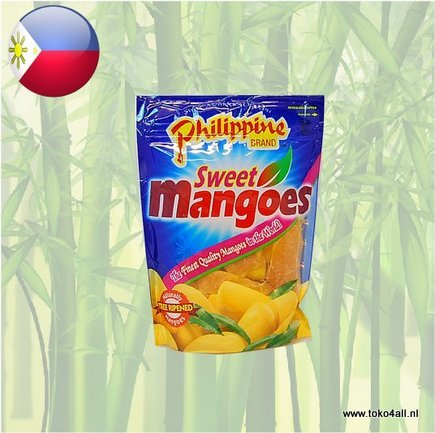 Toko 4 All - Dried Sweet Mangoes 170 gr Philippine Brand