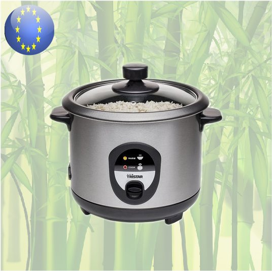 Toko 4 All - Electric Rice Cooker stainless steel RK-6126 Tristar