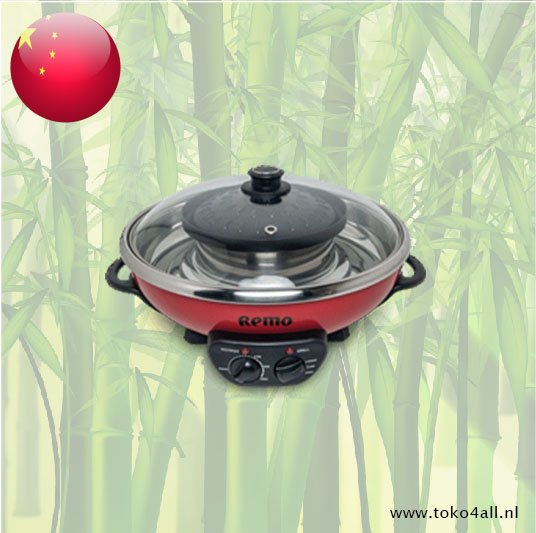 Toko 4 All - Electric hotpot with Korean grill plate 38 cm Remo