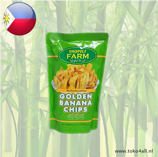 Toko 4 All - Golden Banana Chips 150 gr Tropics Farm