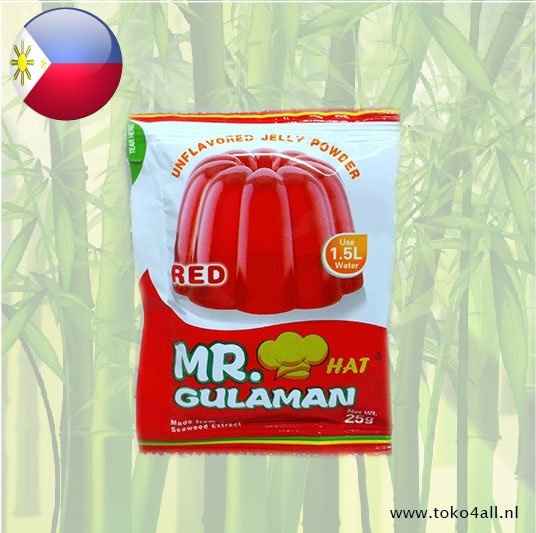 Toko 4 All - Gulaman Red Jelly Powder Mix 25 gr Mr. Hat