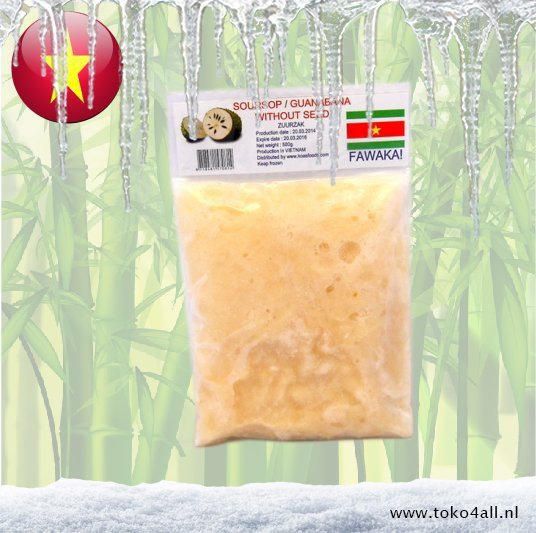 Toko 4 All - Guyabano Puree Diepvries 500 gr Fawaka
