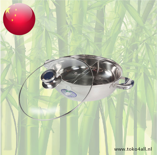 Toko 4 All - Hot Pot 2 sections 26 cm with Glass lid HCX
