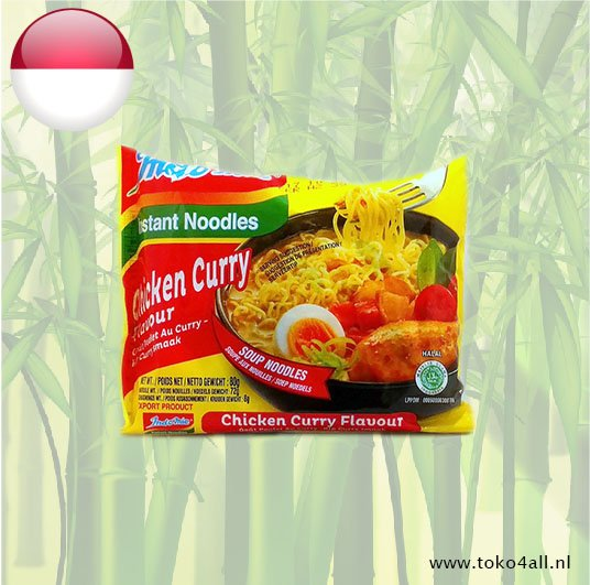 Toko 4 All - Instant Soup Noodles Chicken Cury 80 gr Indomie
