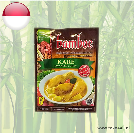 Toko 4 All - Kare Javaanse Curry 36 gr Bamboe