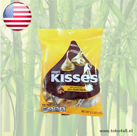 Toko 4 All - My Little Philippines - Kisses Milk Chocolate with almonds 150 gr Hershey