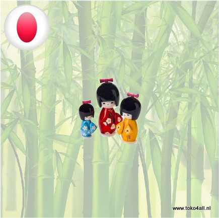 Toko 4 All - Kokeshi dollset 3 pcs