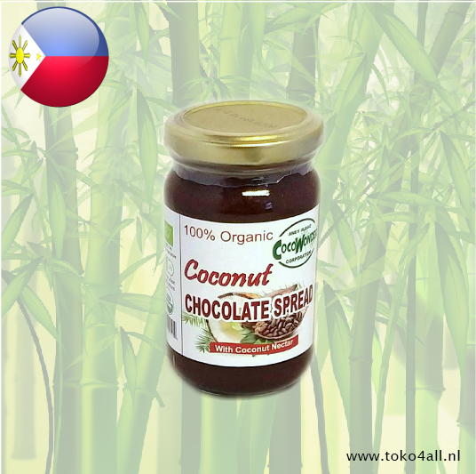 Toko 4 All - My Little Philippines - Kokosnoot Chocolade pasta 250 ml Coco Wonder