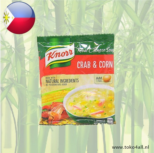 Toko 4 All - My Little Philippines - Krab Mais soep 60 gr Knorr