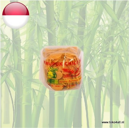 Toko 4 All - Krupuk Chili Hot 250 gr Baland Bamboo Brand