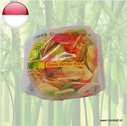 Toko 4 All - My Little Philippines - Krupuk Udang Warna 250 gr Baland Bamboo Brand