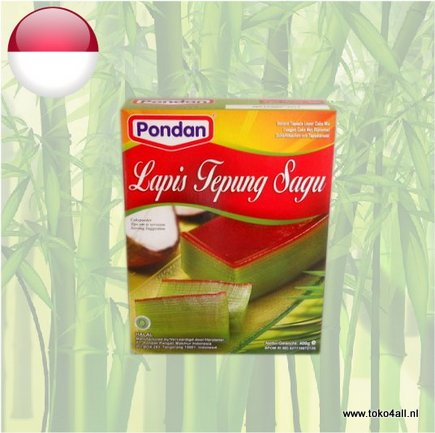 Toko 4 All - Lapis Tepung Sagu Rice Layer Cake 400 gr Pondan