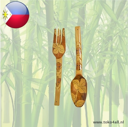Toko 4 All - Spoon and Fork 49 x 8 x 1 cm Kahoy