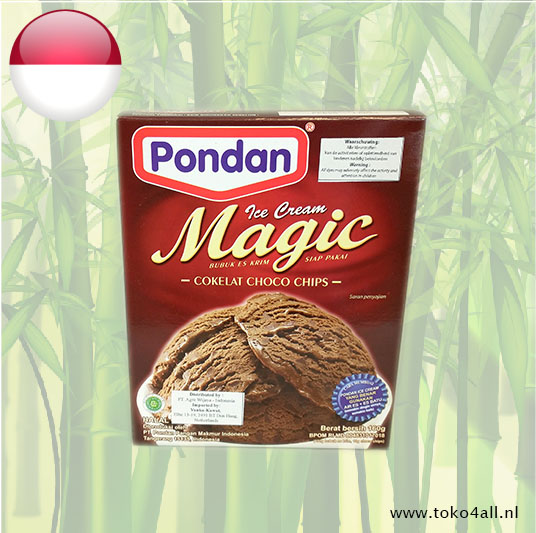 Toko 4 All - Magic Ice Cream Chocolade met stukjes Chocolade 150 gr Pondan