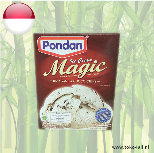 Toko 4 All - Magic Ice Cream Vanille met stukjes Chocolade 150 gr Pondan