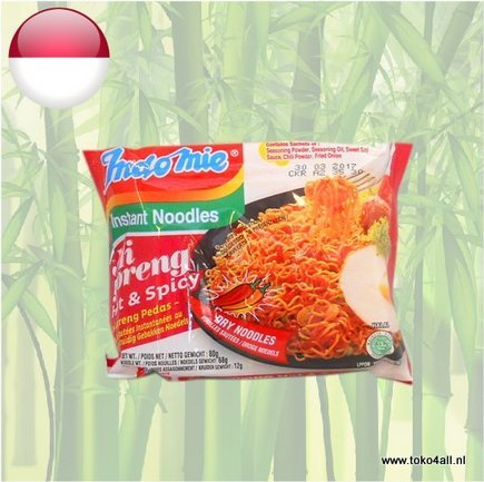 Toko 4 All - Mi Goreng Hot and spicy Instant Noedels 80 gr Indomie