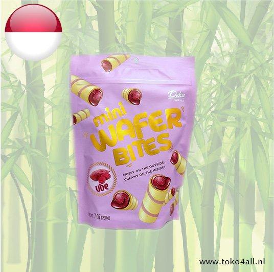Toko 4 All - Mini Wafer Bites Ube 200 gr Deka