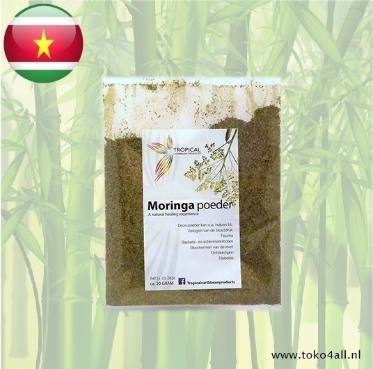 Toko 4 All - Moringa Poeder 20 gr Tropical Caribbean Products