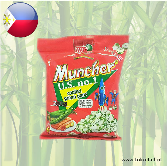 Toko 4 All - Muncher Coated Green Peas Spicy Beef flavor 200 gr W.L.