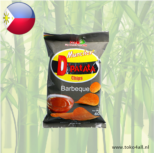 Toko 4 All - Muncher D'Patata Chips Barbeque 60 gr W.L.