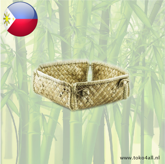 Toko 4 All - Pandan folding basket 14 x 14 x 5 cm