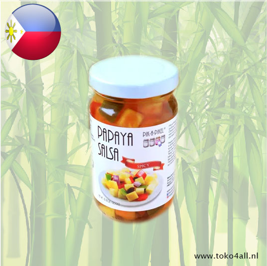 Toko 4 All - Papaya Salsa Spicy 250 gr Pik A pikel